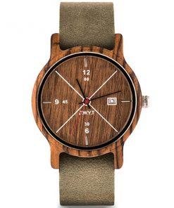 montre en bois come nato gris