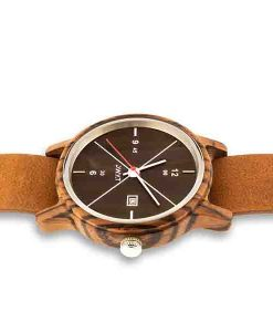 Lake zebra santal noir Nato marron 2 – blanc