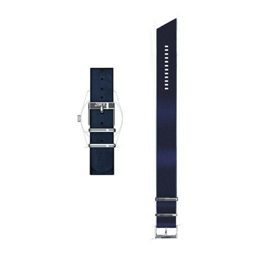 Bracelet nato cuir veritable bleu nuit