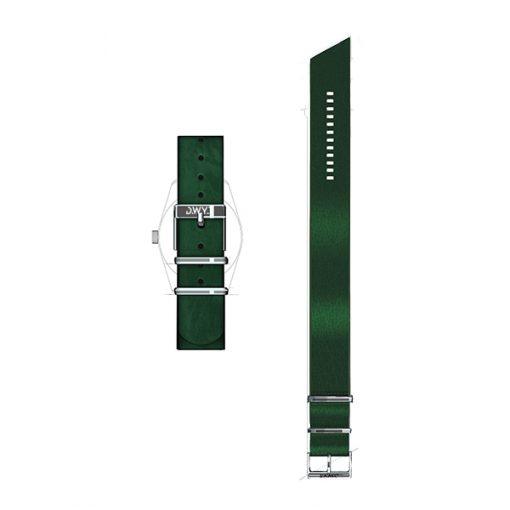 Bracelet nato cuir veritable vert impérial