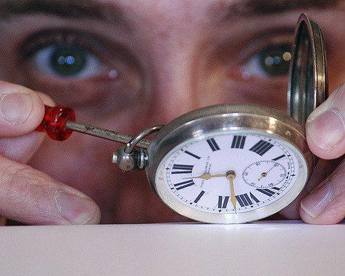 entretien d'une montre