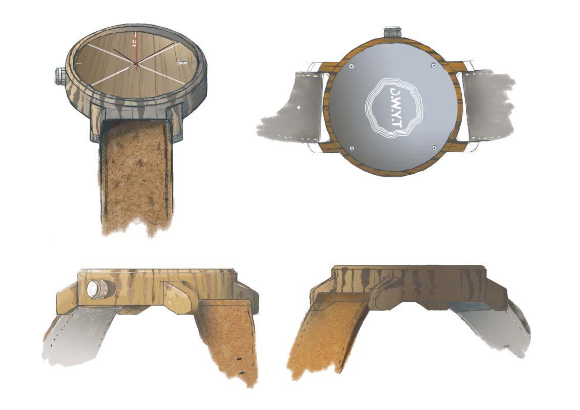 Image montre en bois menu dwyt