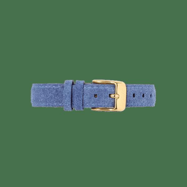Bracelet de montre femme en cuir velours bleu cobalt