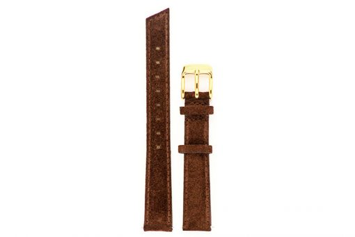 bracelet de montre coloris chocolat et or