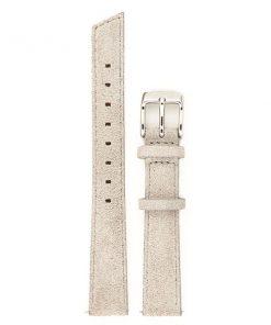 montre en cuir gris avec boucle argent