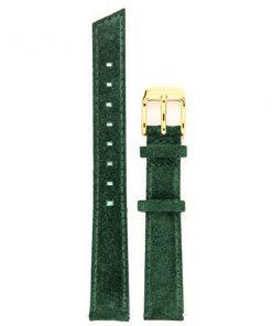 bracelet de montre classique cuir vert pin or