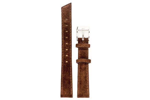 bracelet de montre en cuir coloris chocolat