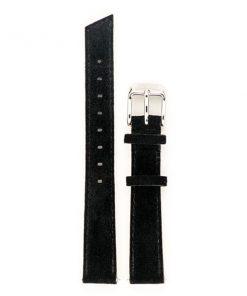 bracelet de montre femme en cuir véritable noir