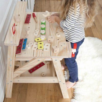 établi pour enfants en bois