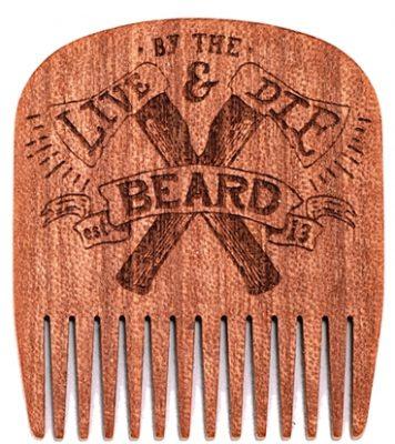 peigne pour la barbe en bois