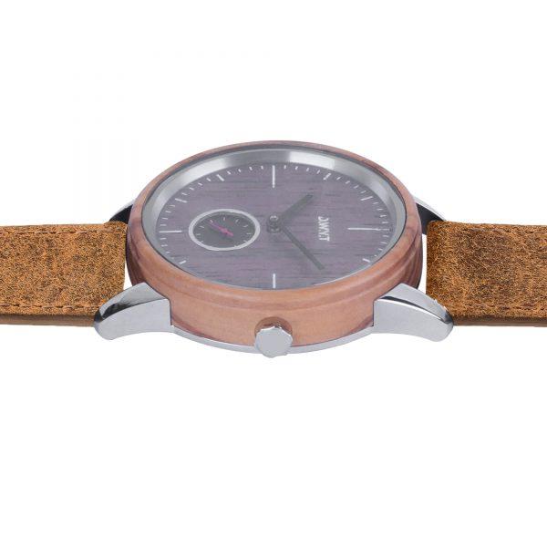Montre minimaliste Etna bracelet vintage marron sépia