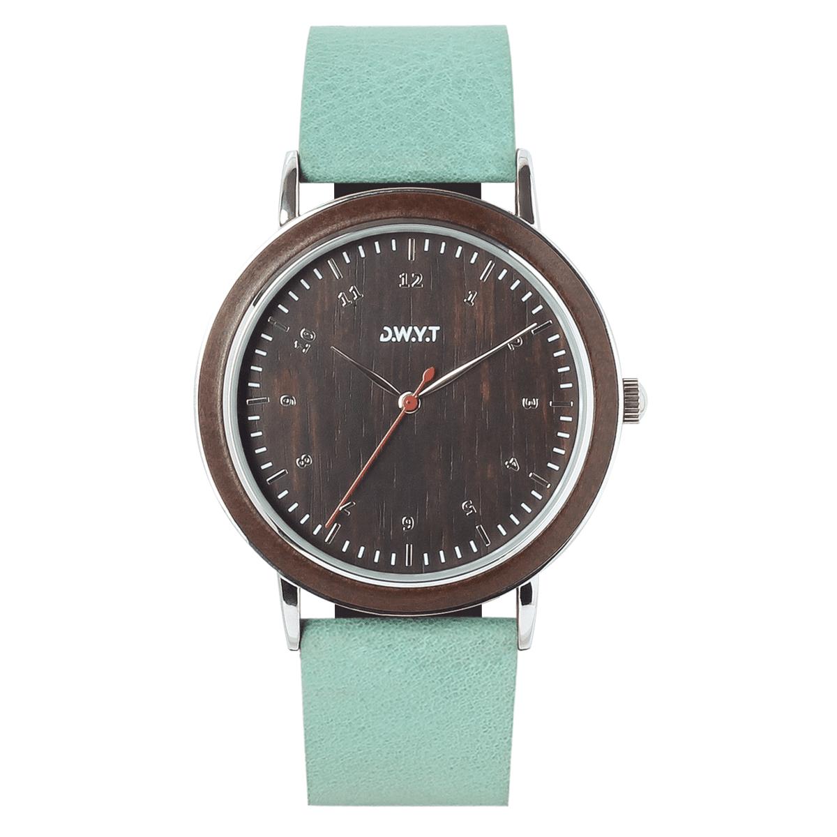 Montre Sitra avec bracelet en cuir grainé bleu bermudes