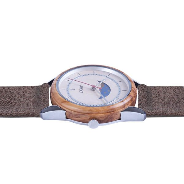 Montre Full Moon Cuir Cacao