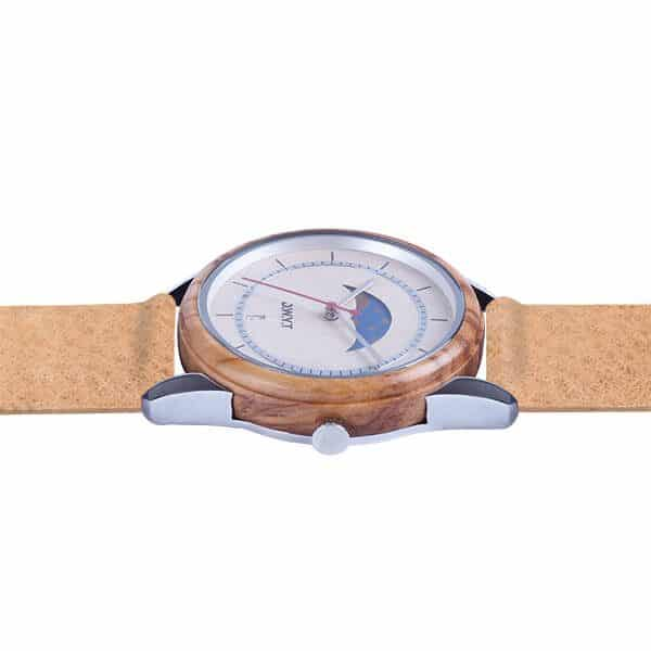 Montre Full Moon Cuir Noisette