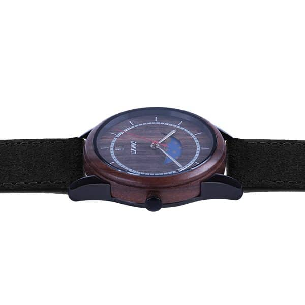 Full Moon Vintage Black Charcoal Watch
