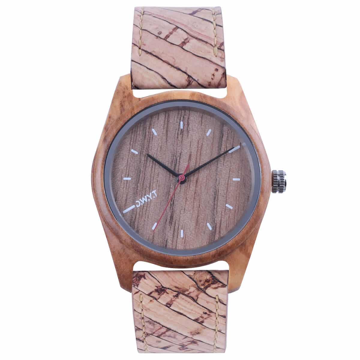 montre en bois vegan forest bracelet liège