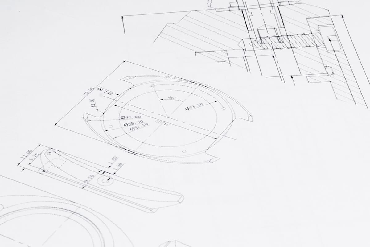 technical drawings of watches