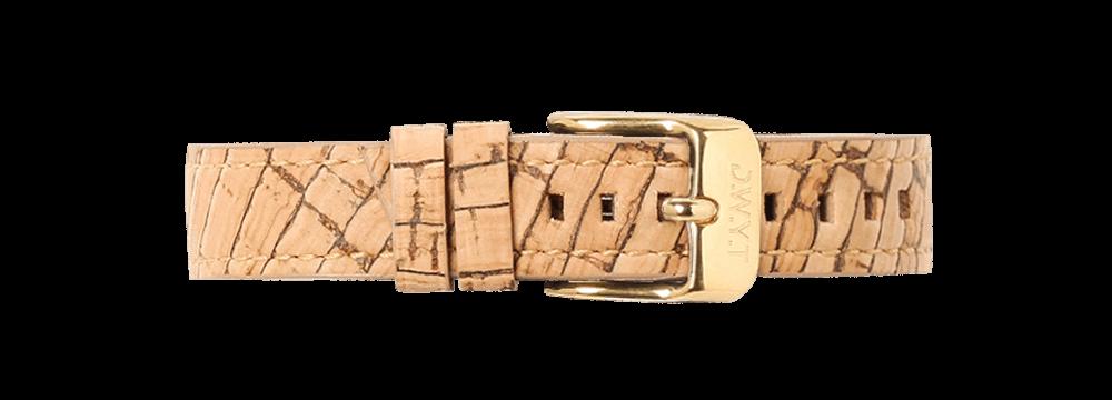 Bracelet vegan liège avec boucle or