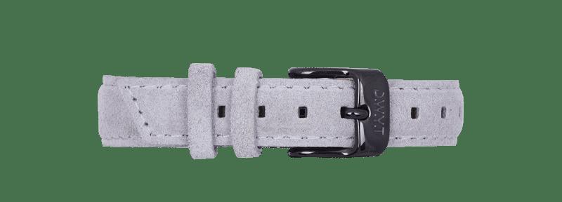 Bracelet en velours gris avec boucle black