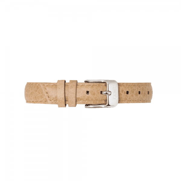 Bracelet en cuir grainé 14mm beige