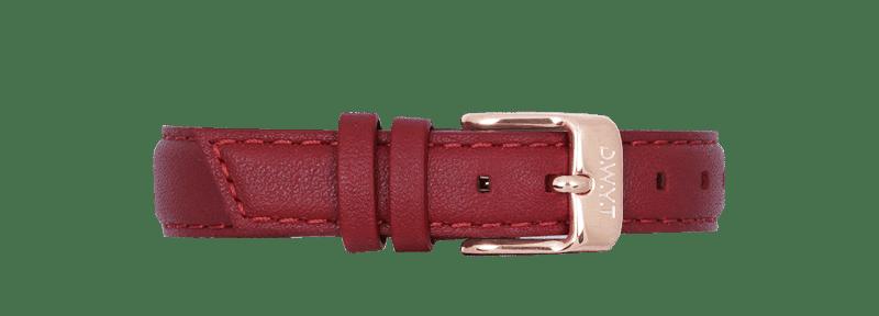 Bracelet cuir rouge avec boucle rose gold