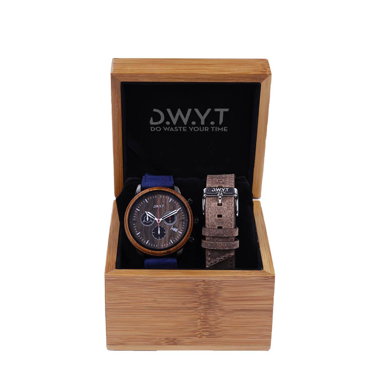 Coffret cadeau VDG montre chronographe