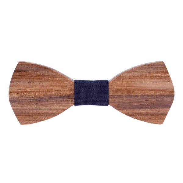noeud en bois pour homme en zebrawood
