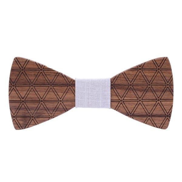 noeud papillon motif original en bois pour homme