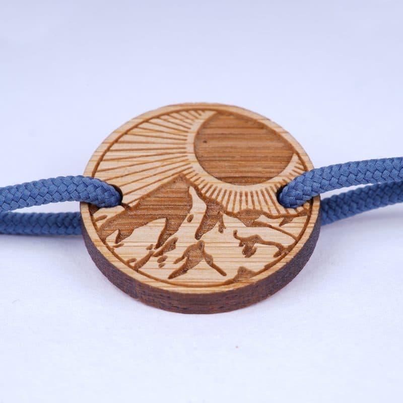 Bracelet cordon homme passion randonnée