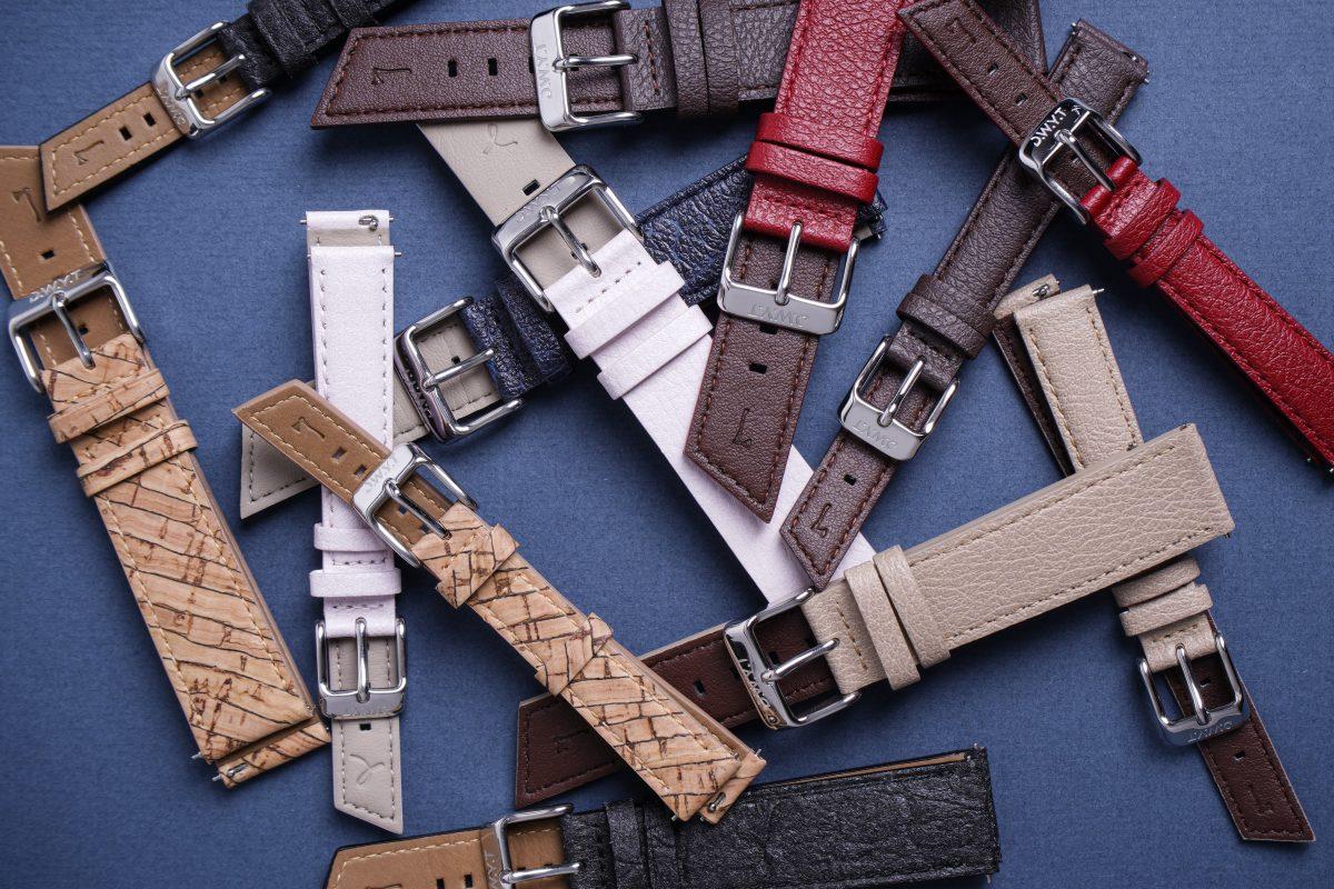 Différents coloris de bracelets de montre vegan