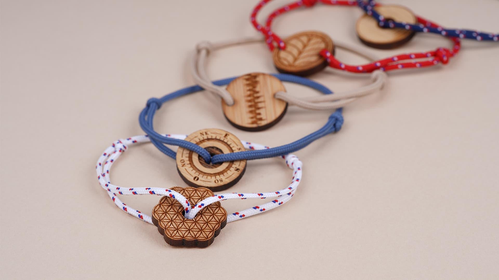bijou made in france bracelets cordons unisexes à noeuds coulissants