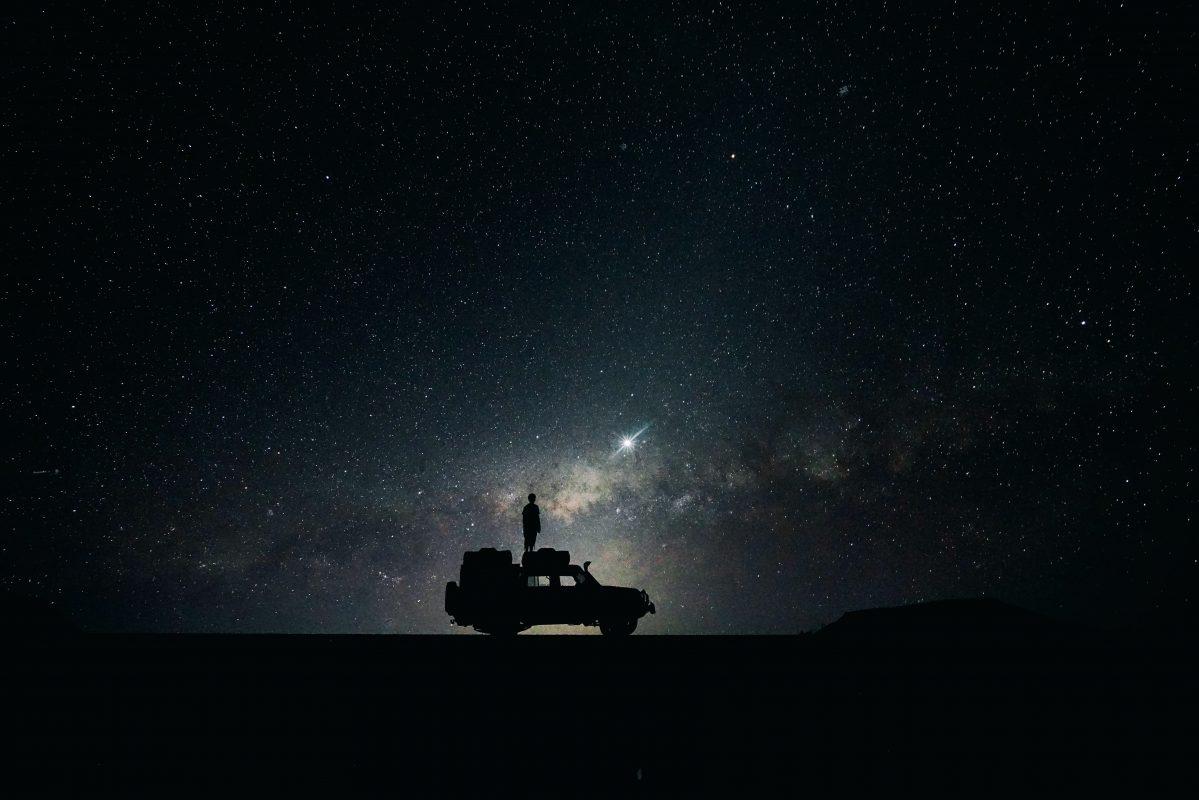 Photo inspirante d'une nuit étoilée