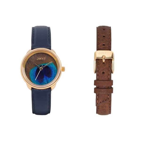 PLUME-GOLD-bleu-marine-graine-brun