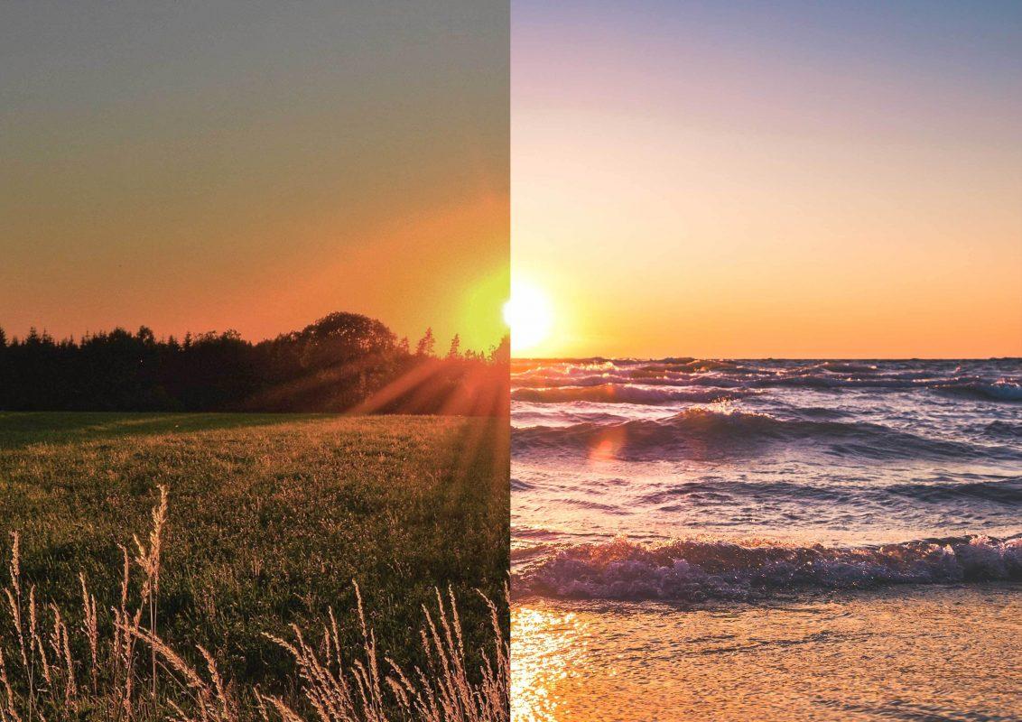 Fusion lever et coucher de soleil